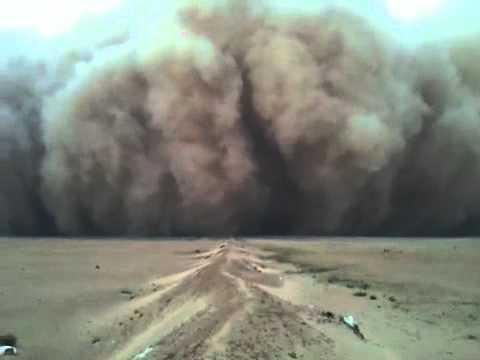 اقوى عاصفة غبار بالكويت لا يطوفكم اخر شي  Dust Storm in Kuwait