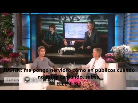 Justin Bieber en Ellen – ( traducido al español ) – 28 / 01 / 2015