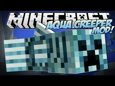 Minecraft | AQUA CREEPER MOD (CRAZY Fish Creeper Mutant!) | Mod Showcase
