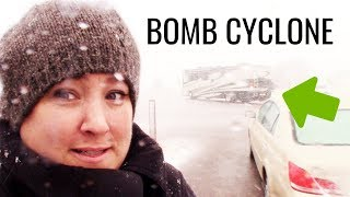 BOMB CYCLONE IN A RV?!? I survived 97 MPH winds in my Class C