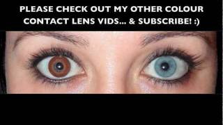 """Cooper Vision Expressions Colors - Monthly disposable contact lenses:BROWN (Opaque Tinted Coloured Contact Lenses)My natural eye colour is light blue. These lenses, being opaque, change my eye colour completely to a deep """"Bella"""" brown (shade: BROWN)."""