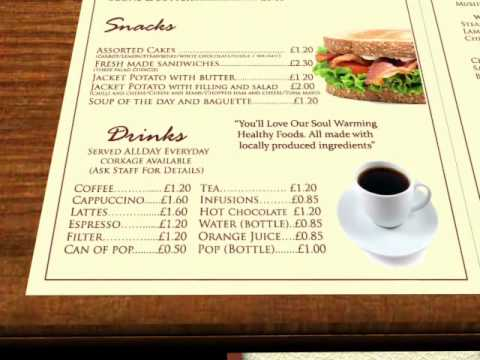 3d Cafe/Restaurant Menu Design
