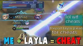 Video LAYLA CHEATER GAMEPLAY ! 3 VS 5 + TWO MANIAC + TRASHTALKERS ! Mobile Legends MP3, 3GP, MP4, WEBM, AVI, FLV November 2017