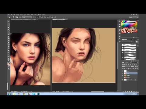 Aprenda Pintura Digital (Vika) 1ª parte (видео)