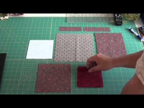 blocco stella per copriletto in patchwork
