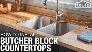 How To Install Butcher Block Countertops | DIY Kitchen Remodel