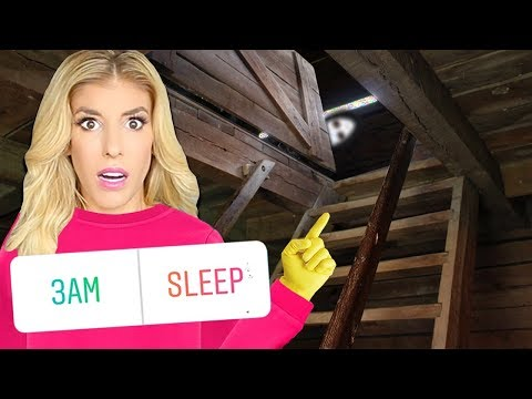 24 Hours in an ABANDONED ROOM above my HOUSE! (Game Master Has Fans Control My Life for a Day)