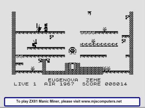 ZX81 MANIC MINER HIRES GRAPHICS ZX80