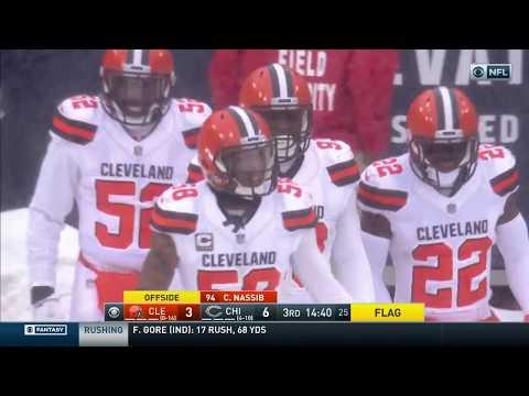 Video: Myles Garrett Gets Huge Pick 6...But Gets Called Back by Offsides | Browns vs. Bears | NFL Wk 16