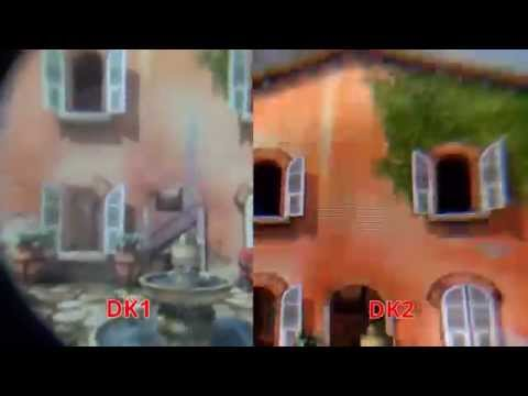screen - Please Subscribe: http://goo.gl/D48eXa As requested here are some comparisons of the screen quality of DK2 vs DK1 - all shot through the lens of the developer kits while playing the Tuscany...