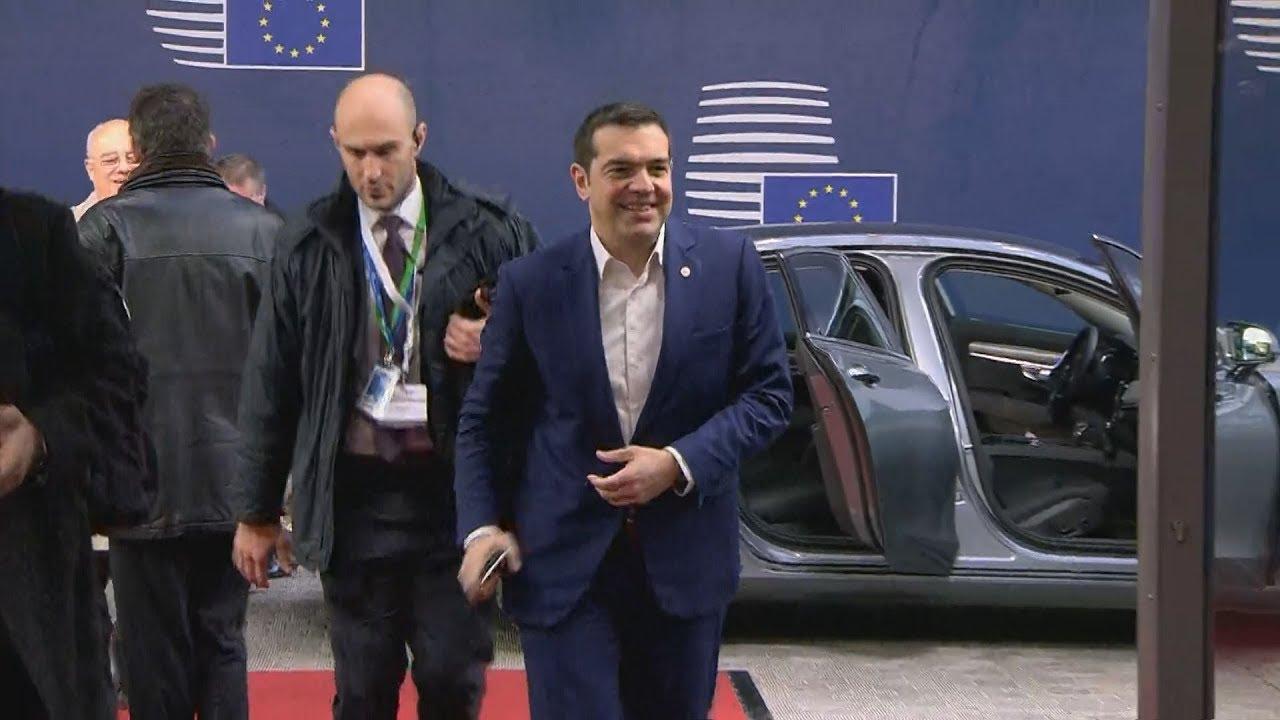 Είσοδος του Πρωθυπουργού Α. Τσίπρα στη Σύνοδο αρχηγών κρατών ή κυβερνήσεων της ΕΕ στις Βρυξέλλες