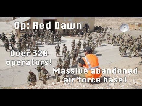 Massive Airsoft Battle - Boron: Red Dawn 04-20-13 300 Players, 1080p видео