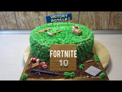FORTNITE CAKE - HOW TO MAKE FORTNITE BIRTHDAY CAKE! STEP BY STEP