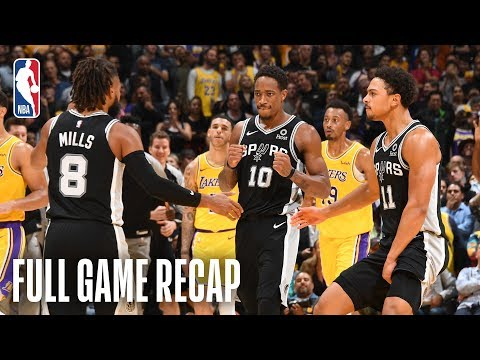 Video: SPURS vs LAKERS | San Antonio & Los Angeles Go Down To The Wire | October 22, 2018