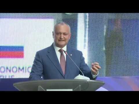 Igor Dodon a participat la ședința plenară din cadrul Forumului Economic Moldo-Rus