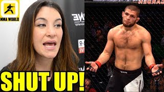 Khabib should Just SHUT UP and keep his opinion about women to himself-Tate,#UFC238 Faceoff