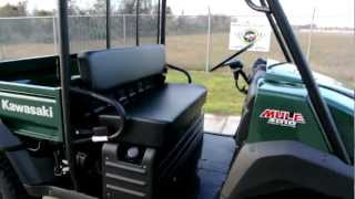 8. 2012 Kawasaki Mule 4010 4X4 Woodsman Green Overview Walk Around