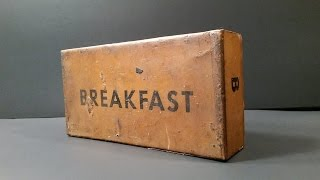 Video 1945 US K Ration Breakfast MRE Review 70 Year Old Pork & Eggs Meal Ready To Eat Unboxing MP3, 3GP, MP4, WEBM, AVI, FLV April 2019