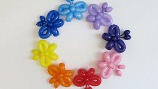 Бабочки из шаров своими руками пошаговая инструкция