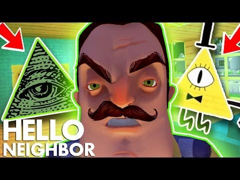 Minecraft Hello Neighbor - My Neighbor Is The Illuminati (Minecraft Roleplay) (видео)