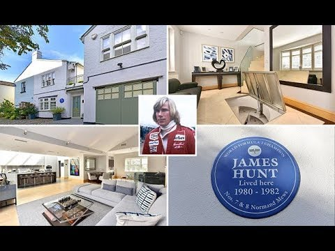 Former London home of racing driver James Hunt is for sale for £2.7m