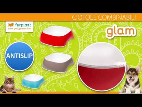 Ferplast   Ciotole in plastica GLAM e MAGNUS