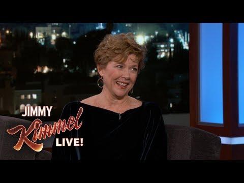 Annette Bening parle de Miami Vice à Jimmy Kimmel