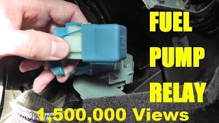 8. Fuel Pump Relay TESTING and REPLACEMENT