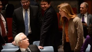 RUSSIA-US TENSIONS INTENSIFY AT UN MEETING FOLLOWING STRIKE