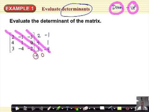 Algebra 2 Section 3-7 Determinants & Cramers Rule (part2)