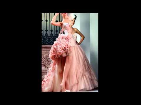 Модные цветные свадебные платья 2016