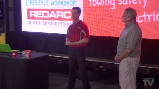 Solar with Matthew Wright from Redarc - SA Let's Go Lifestyle Expo. Shot & edited by Redarc.