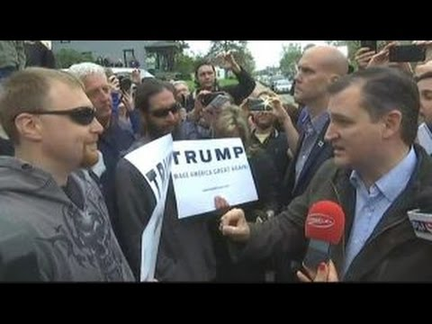 VIDEO: Cruz Tries To Take On Trump Supporter...Bad Idea