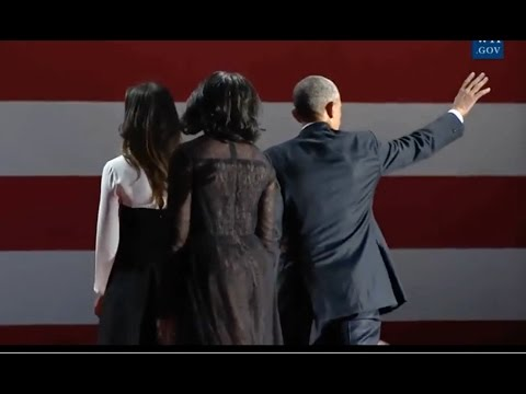 Download Obamas & Bidens Wave Goodbye To Crowd At Farewell Address In Chicago HD Mp4 3GP Video and MP3