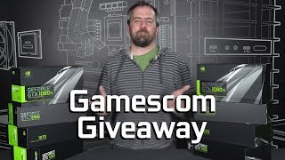 To enter our Gamescom Giveaway, head over to the Official NVIDIA GeForce Channel and watch our Gamescom coverage in August and September. Subscribe, comment on our Gamescom videos, and you could win TWO 10-series cards when we draw the winning names!Subscribe to GeForce here, and comment on our Gamescom coverage! https://www.youtube.com/channel/UCL-g3eGJi1omSDSz48AML-g?sub_confirmation=1