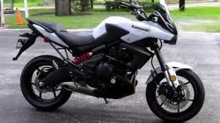 5. Pre-Owned 2013 Kawasaki Versys White at Euro Cycles of Tampa Bay