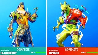 How to Unlock MAX STAGE SKINS FAST in Season 8! (Fortnite Free Rewards)
