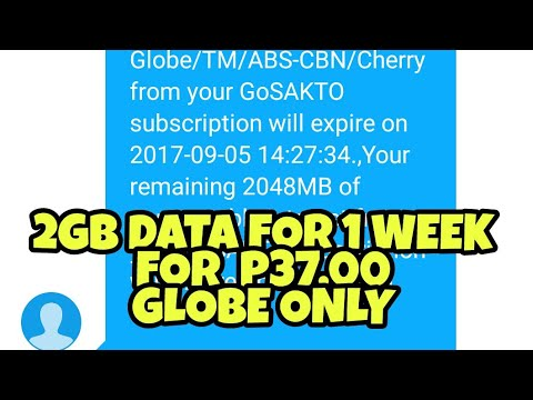 2GB DATA FOR P37.00 ONLY (GLOBE)