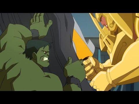 Planet Hulk: Hulk vs the Red King (final battle)