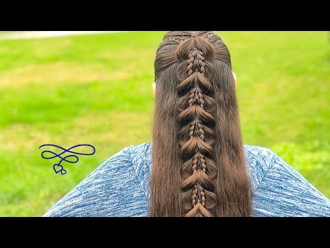 Braid hairstyles - Half Up Combo Pull Through Braid