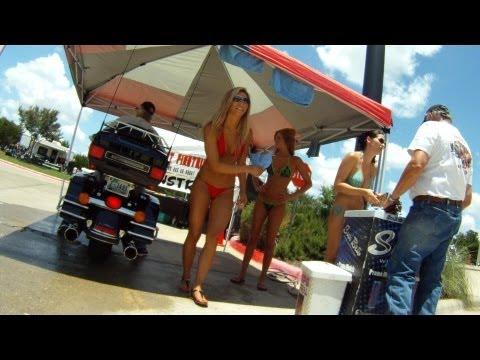 bikini bike wash at Cowboy Harley
