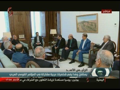 بشار الأسد يستقبل المجاهد لخضر بورقعة في دمشق