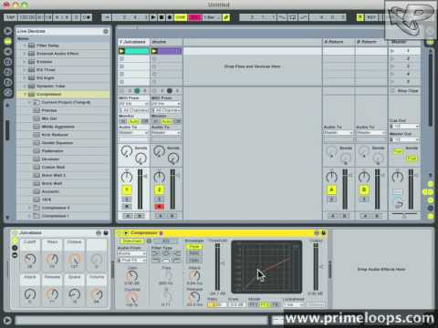 Ableton Live Tutorial – Basic Sidechaining – Sidechain Compression