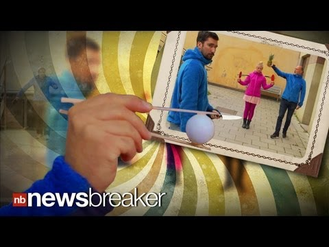 knife - NO WAY!: Group's Impossible Ping-Pong-Knife Throwing Stunt Goes Viral SUBSCRIBE to NewsBreaker's YouTube Channel: http://bit.ly/YgsSEg An amazing ping pong v...