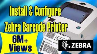 Video How to Install and Configure zebra barcode printer MP3, 3GP, MP4, WEBM, AVI, FLV Januari 2019