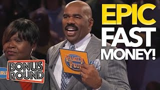 Video 5 HIGHEST FAMILY FEUD USA Steve Harvey's Fast Money Scores! WOW ! Bonus Round MP3, 3GP, MP4, WEBM, AVI, FLV Maret 2019