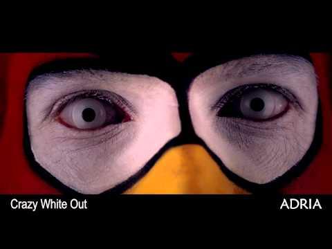 Crazy White out - цветные линзы Adria, видео в линзах