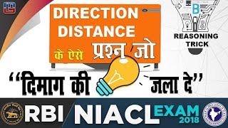 Direction & Distance | RBI/NIACL Exam 2018 | Reasoning | 10 PM