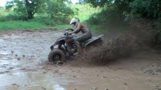 7. ATV Mudding with a Raptor 350 and 400ex