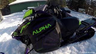 4. 2019 Arctic Cat Alpha One 165  - Stock Can to GGB Mountain Can